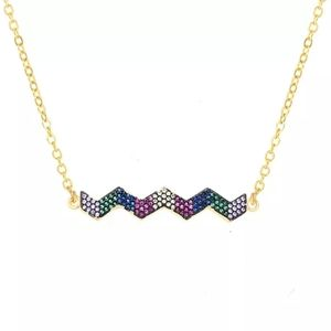 New crystal wave necklace